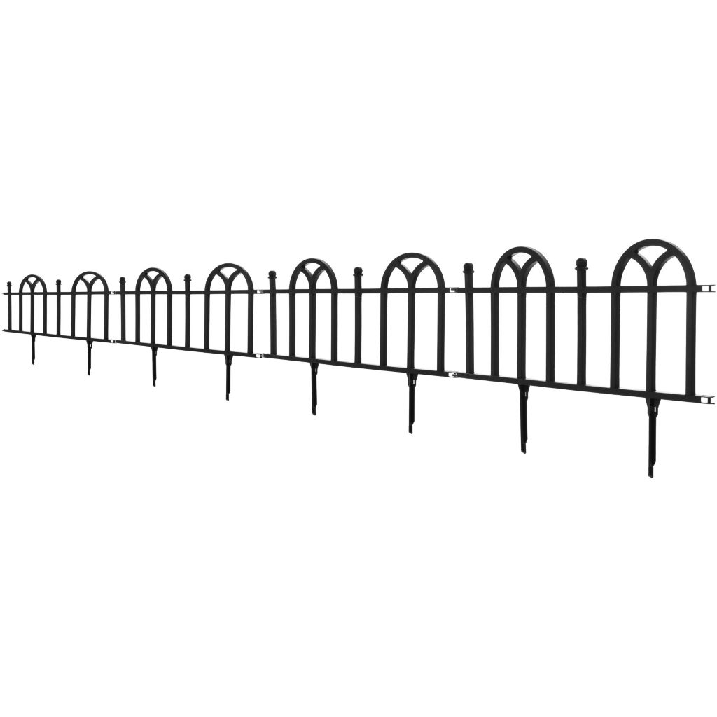 442-847 - Pure Garden Four-Piece Victorian Garden Border Fencing Set