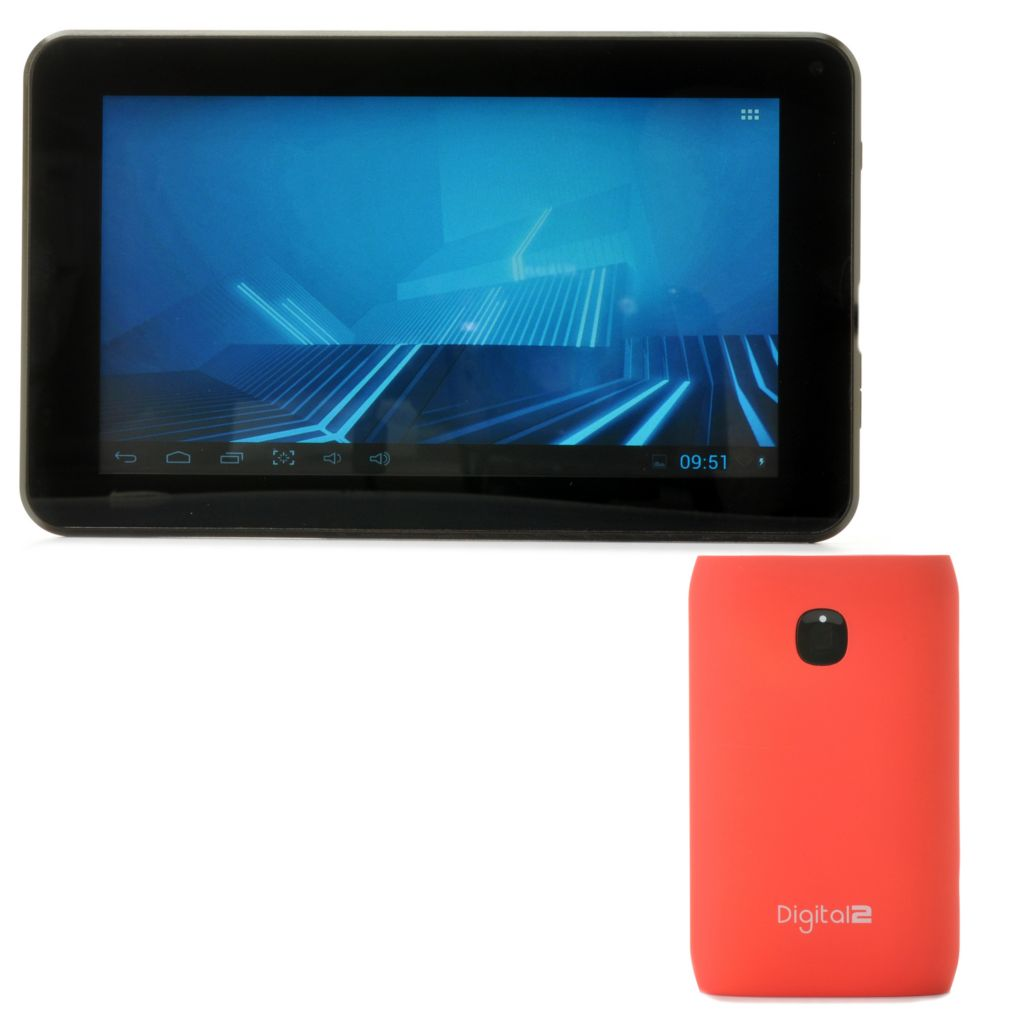 "442-860 - D2® 7"" 8GB Google Certified Android™ 4.1 Dual-Core Tablet & 7800mAh Battery"