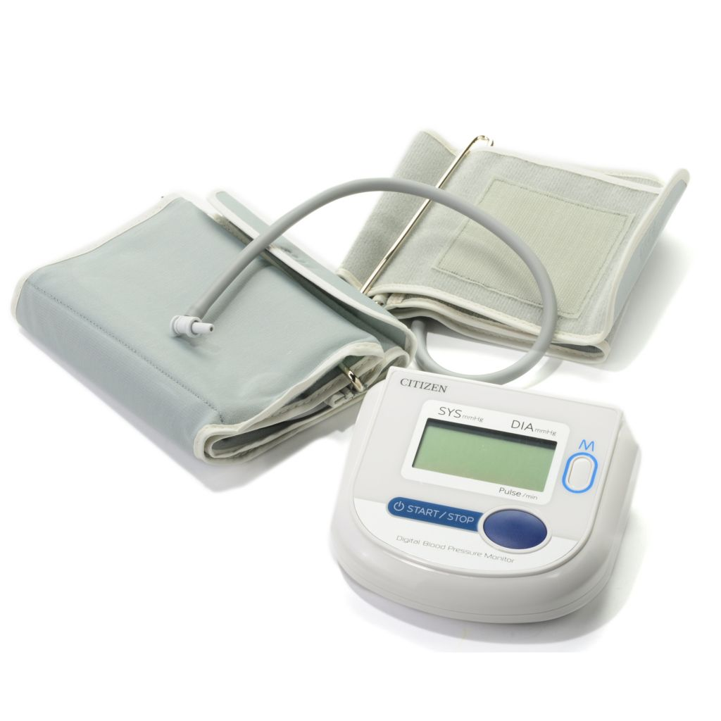 442-870 - Citizen Automatic Digital Arm Blood Pressure Monitor w/ Adult & Large Adult Cuffs