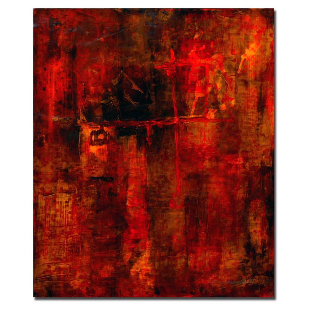 "442-918 - Pat Saunders-White ""Red Odessy"" Ready to Hang Canvas Art"