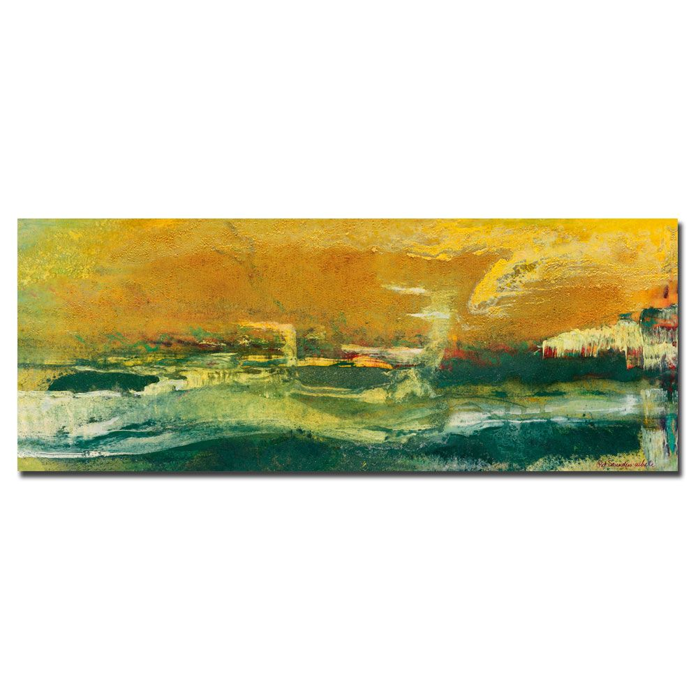 "442-920 - Pat Saunders-White ""Green Edge"" Ready to Hang Canvas Art"