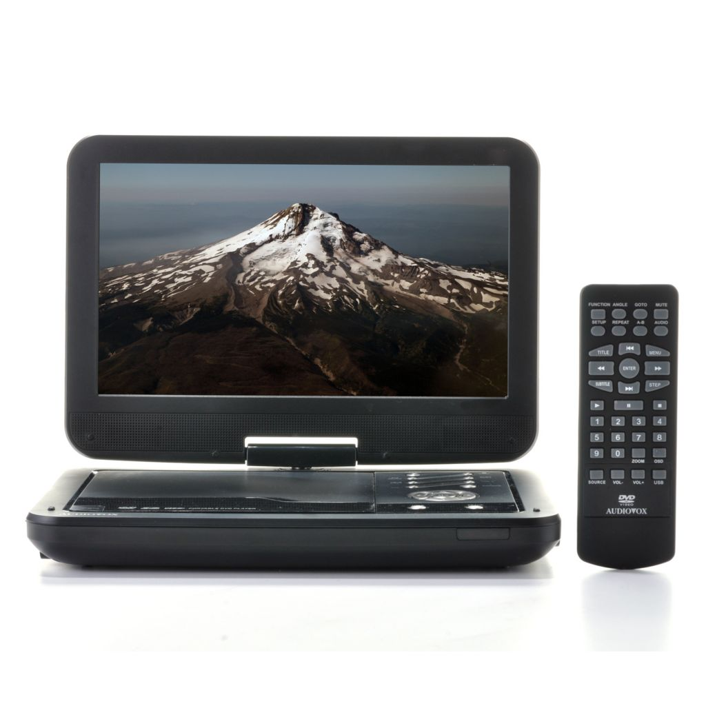 "443-022 - Audiovox 10.1"" LCD Portable DVD Player w/ Swivel Screen & USB Port"