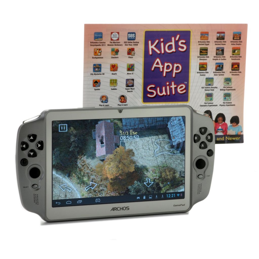 "443-050 - ARCHOS 7"" Google Certified Android™ 4.1 8GB Dual-Core GamePad w/ Kid's App Pack"