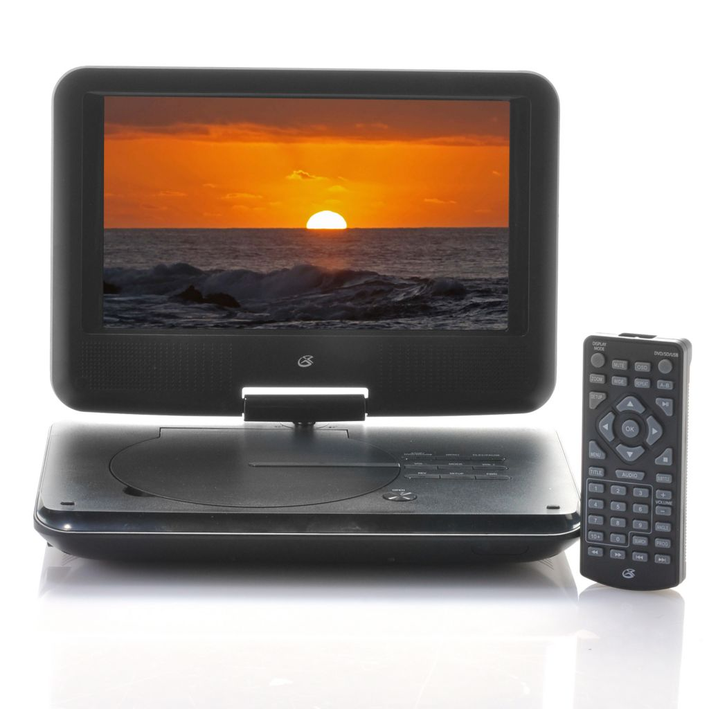 "443-081 - GPX® 9"" LCD Portable DVD Player w/ Swivel Screen & Remote"