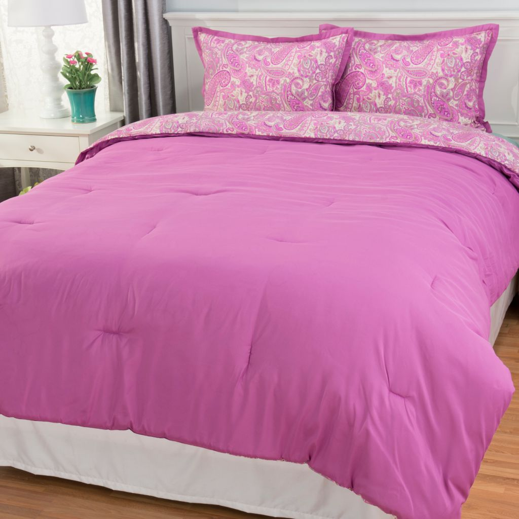 443-114 - Cozelle® Microfiber 3-in-1 Reversible Three-Piece Comforter Set