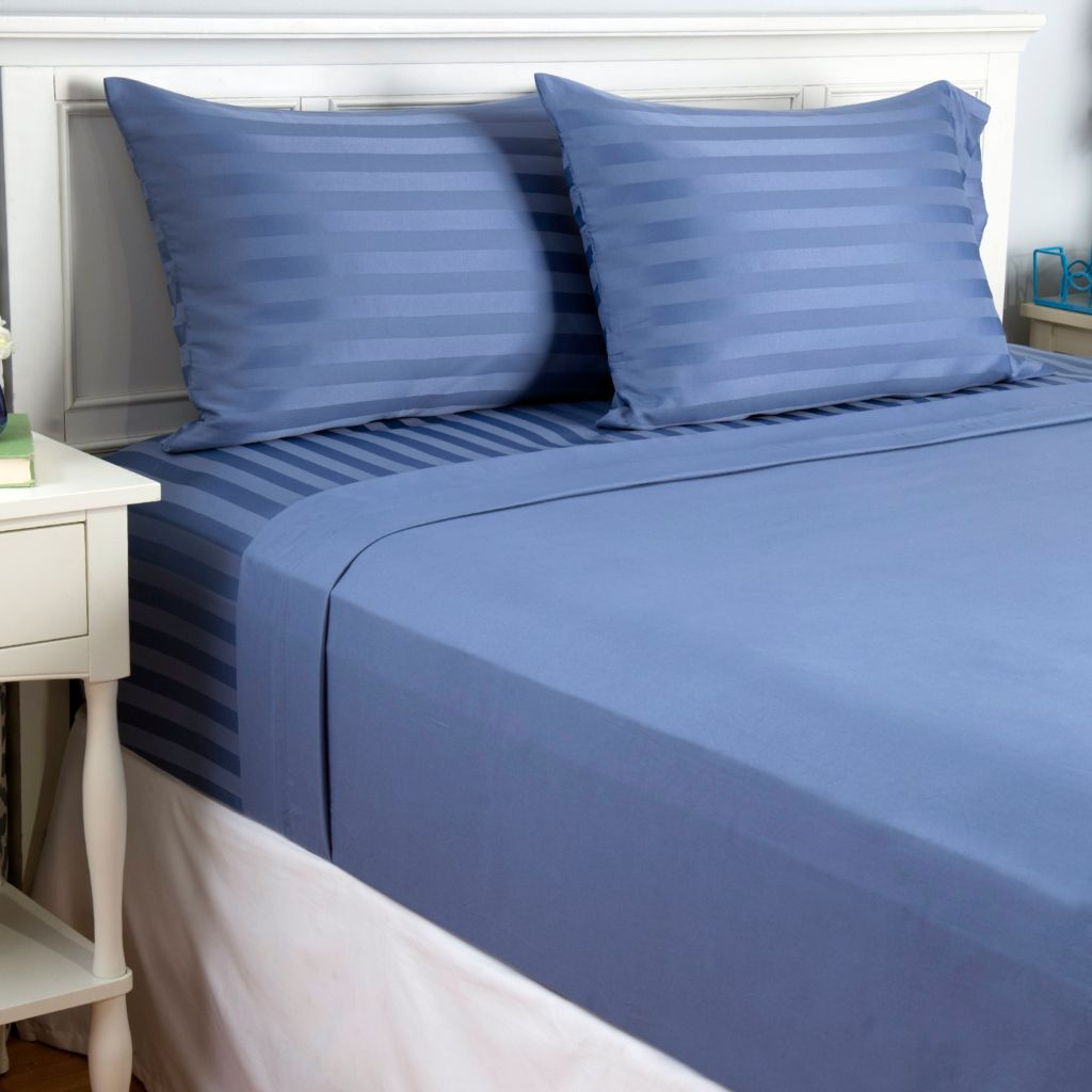 443-115 - Cozelle® Set of Two Microfiber Woven Four-Piece Sheet Sets