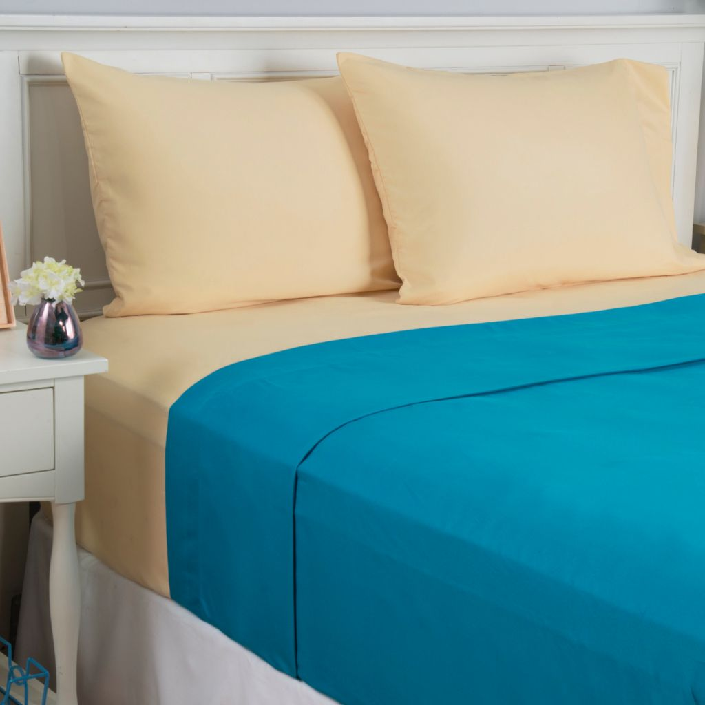 443-127 - Cozelle® Set of Two Microfiber Four-Piece Sheet Sets
