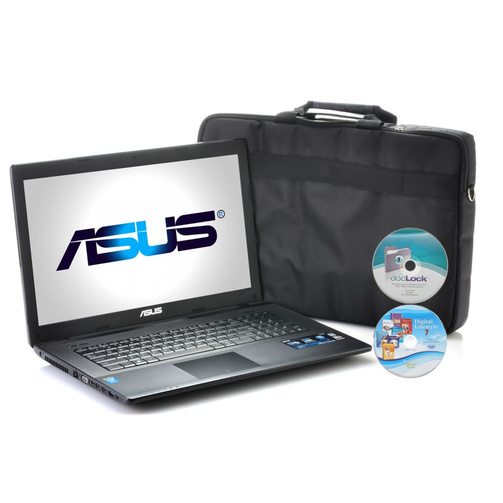 "443-173 - ASUS 17.3"" LED Intel® 2.4GHz 4GB RAM/500GB HDD Notebook w/ Case & Software"