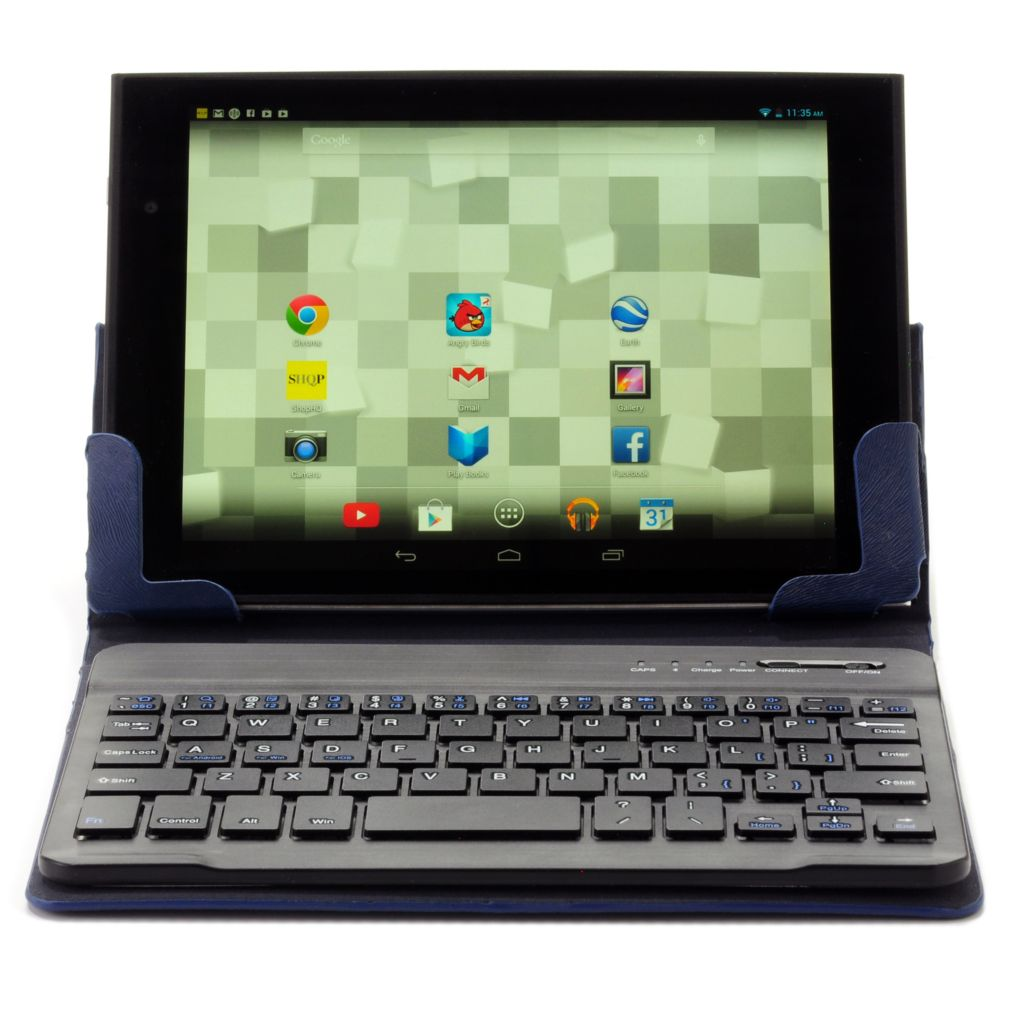 "443-177 - LePan Mini 8"" LCD Google Certified 8GB Quad-Core Wi-Fi Tablet w/ Keyboard Case"