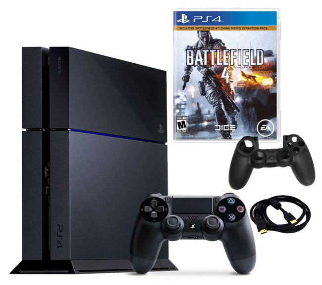443-195 - PS4 500GB Gaming System Bundle w/ Battlefield 4 Game & Accessories