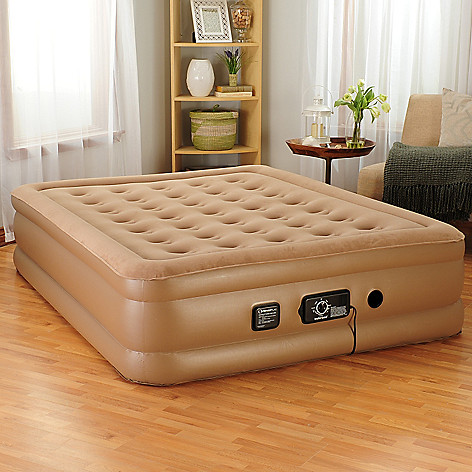 443-199 - insta-bed Raised Air Mattress w/ Built-in NeverFlat™ Dual Pump
