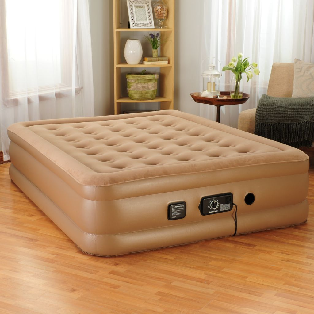 443-199 - insta-bed™ Raised Air Mattress w/ Built-in NeverFlat™ Dual Pump