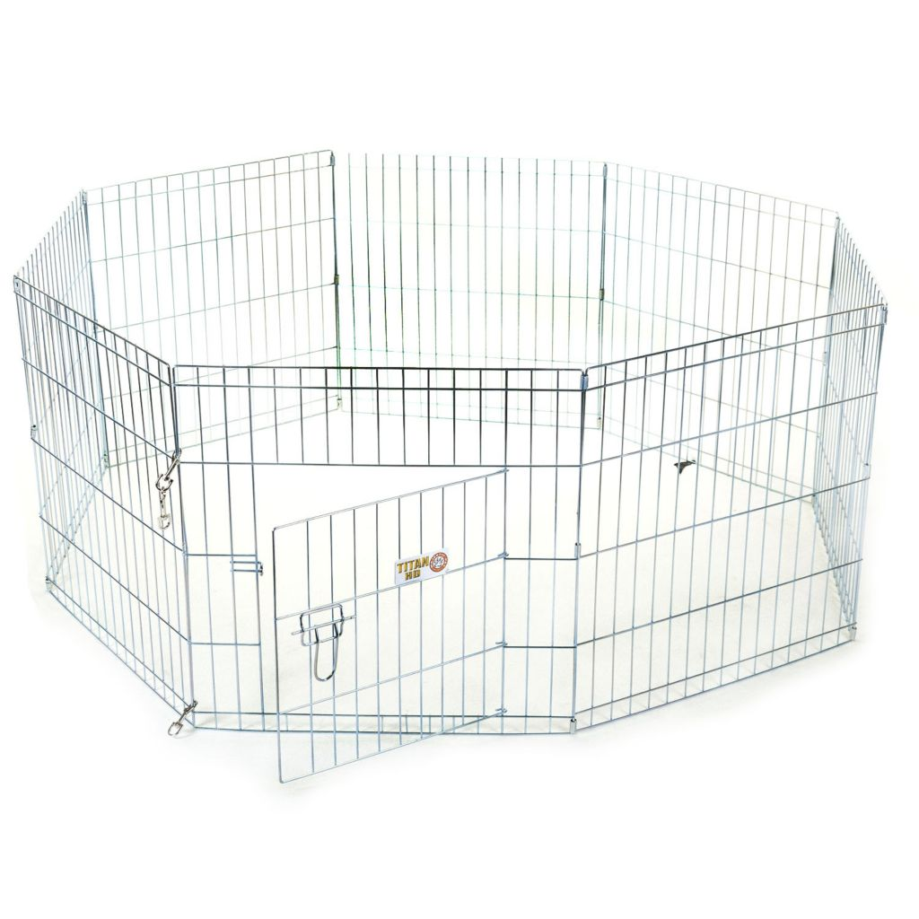 443-203 - Majestic Pet Products Double Latch Door Metal Exercise Pen