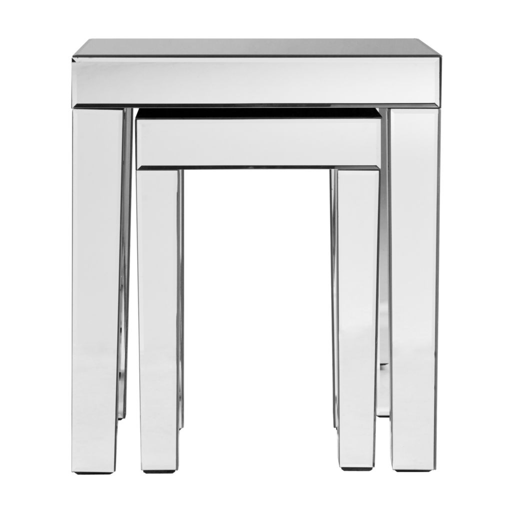 443-245 - Mirrored Two-Piece Nesting Accent Tables