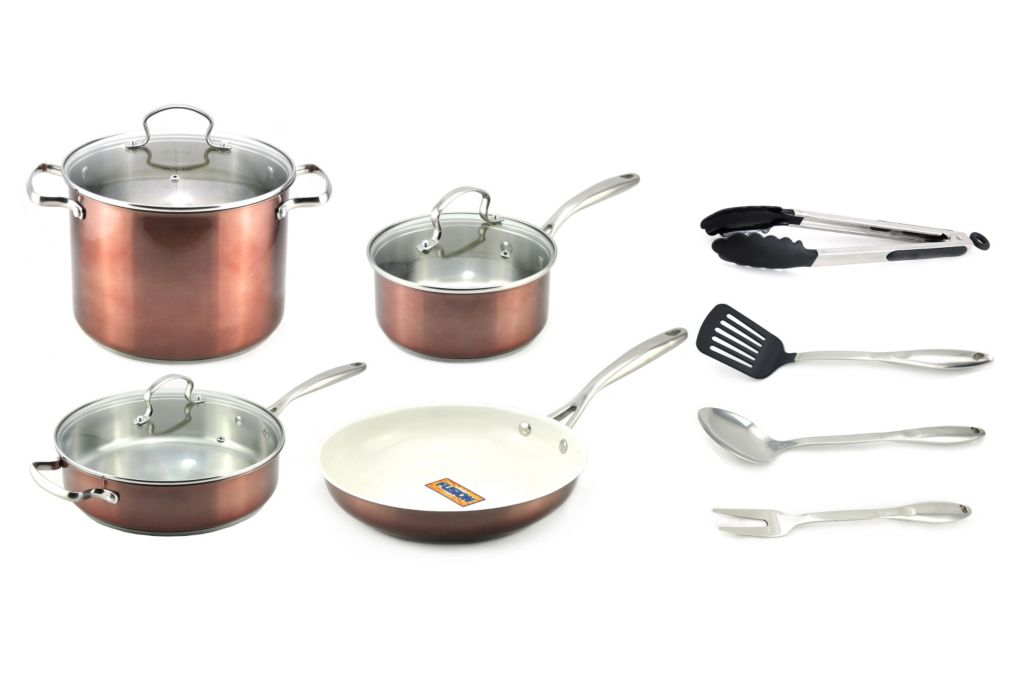 443-278 - Kevin Dundon 13-Piece Nonstick Cookware & Tool Set
