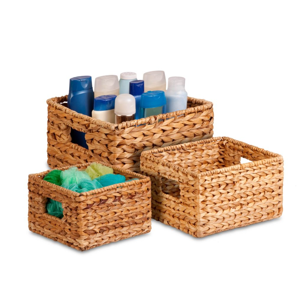 443-289 - Honey-Can-Do Three-Piece Banana Leaf Nesting Baskets