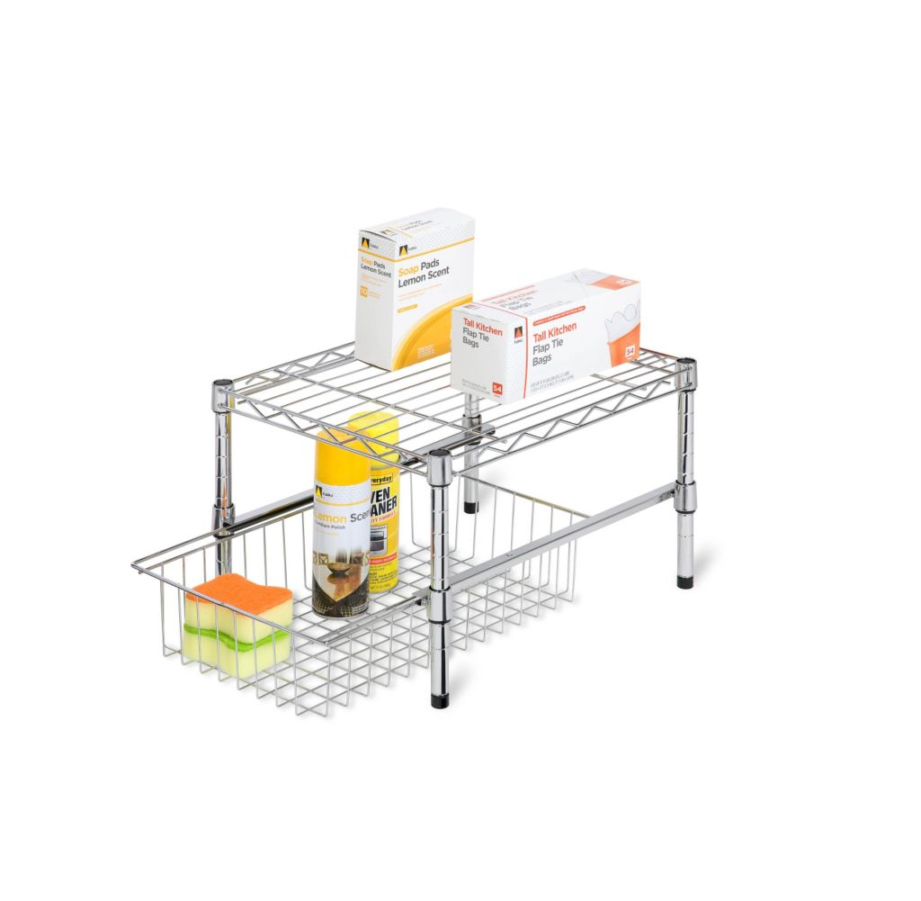 443-301 - Honey-Can-Do Adjustable Shelf w/ Under-Cabinet Organizer