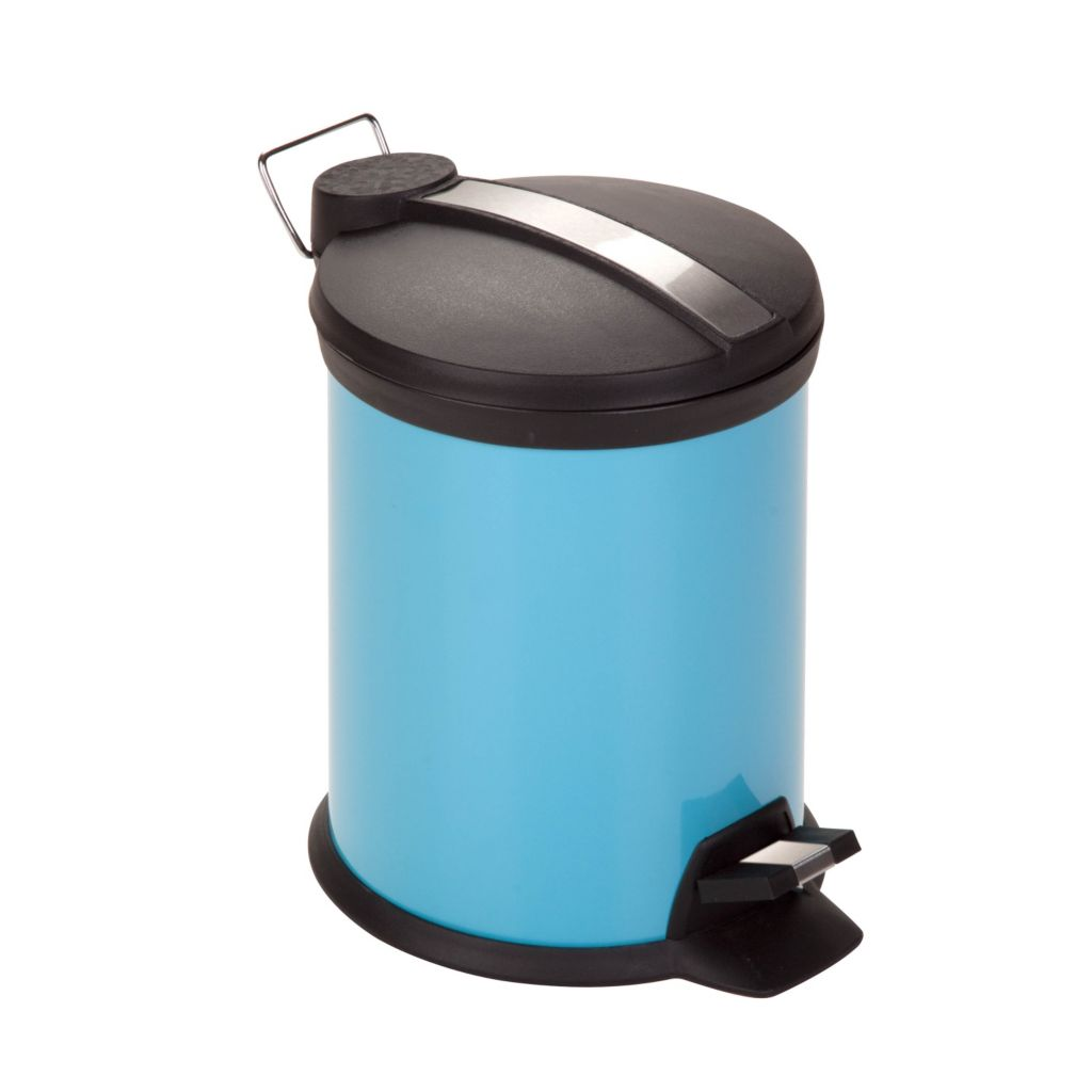 443-313 - Honey-Can-Do Three Liter Two-tone Steel Step Trash Can w/ Bucket