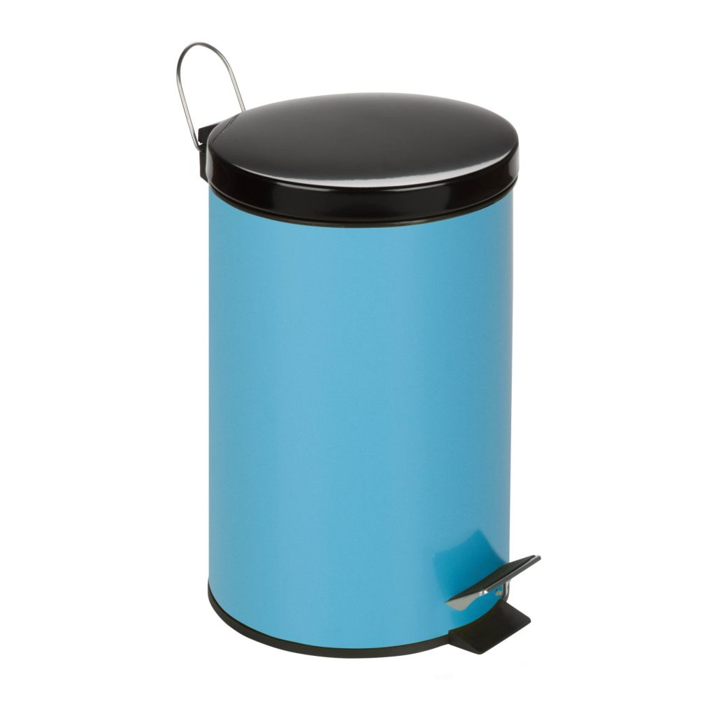 443-315 - Honey-Can-Do 12 L Two-tone Steel Step Trash Can w/ Bucket