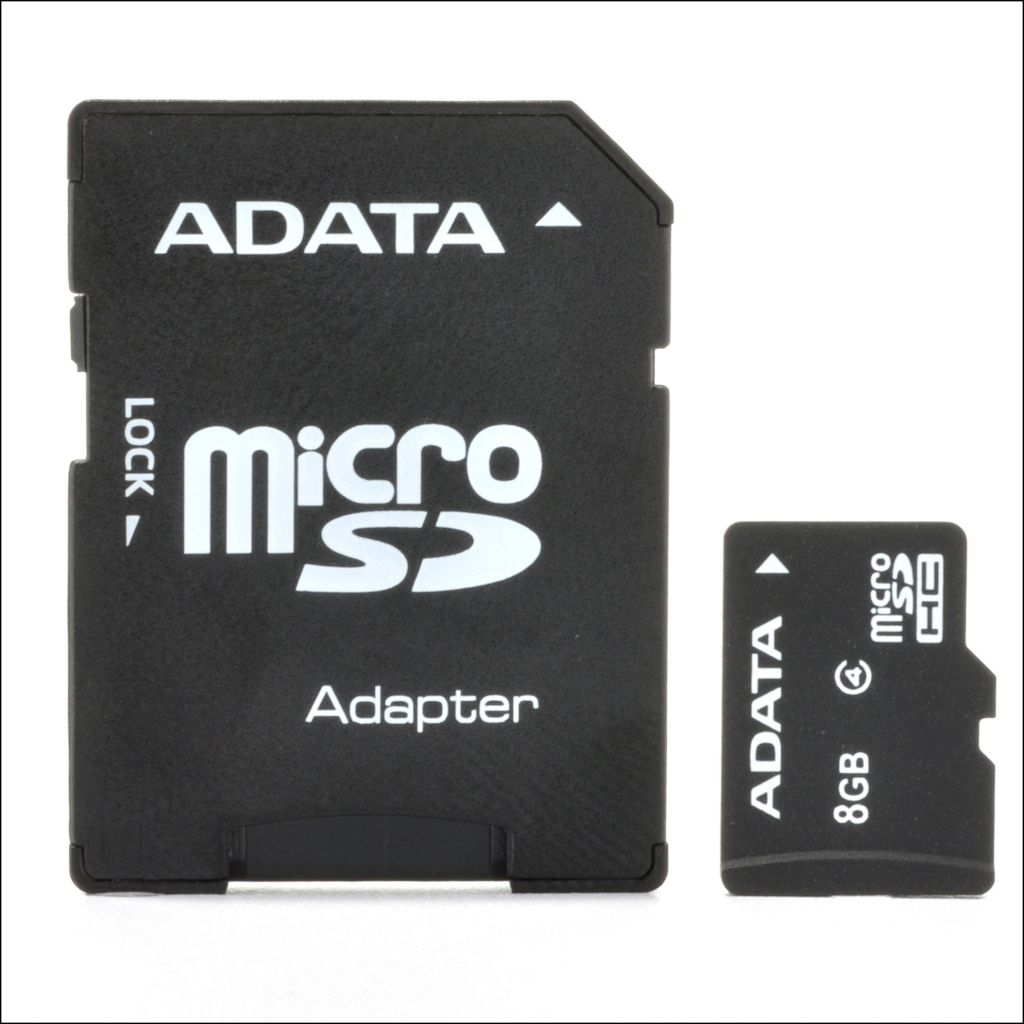 443-332 - ADATA 8GB MicroSD Flash Memory Card w/ SD Adapter