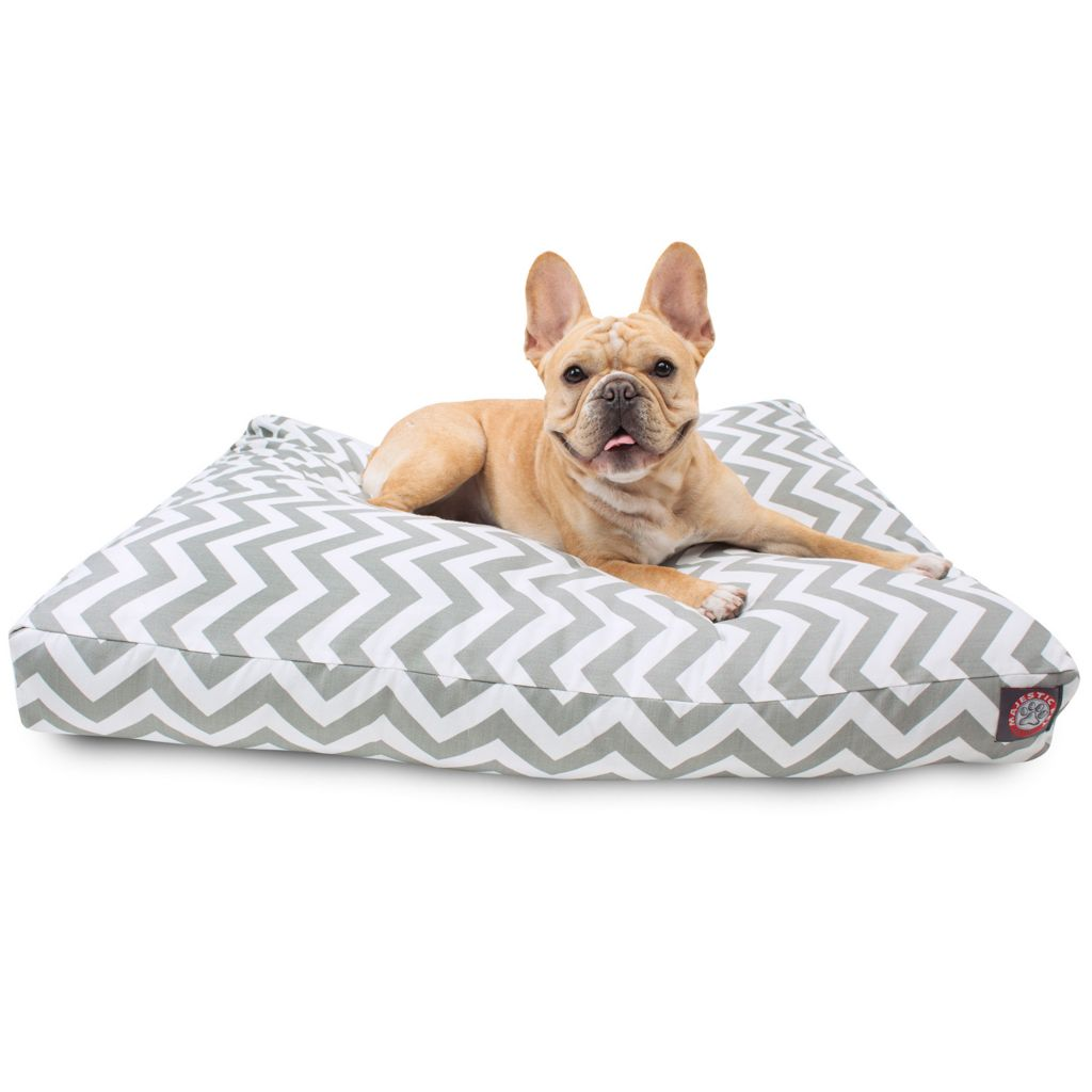 443-335 - Majestic Pet Products Chevron Print Rectangle Pet Bed