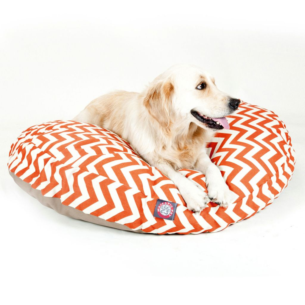 443-336 - Majestic Pet Products Chevron Print Round Pet Bed