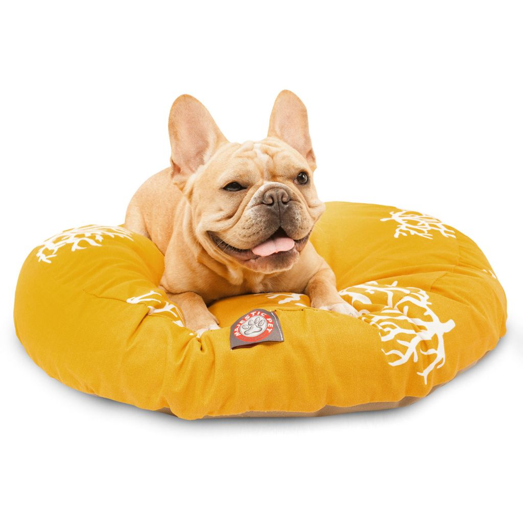 443-338 - Majestic Pet Products Coral Print Round Pet Bed
