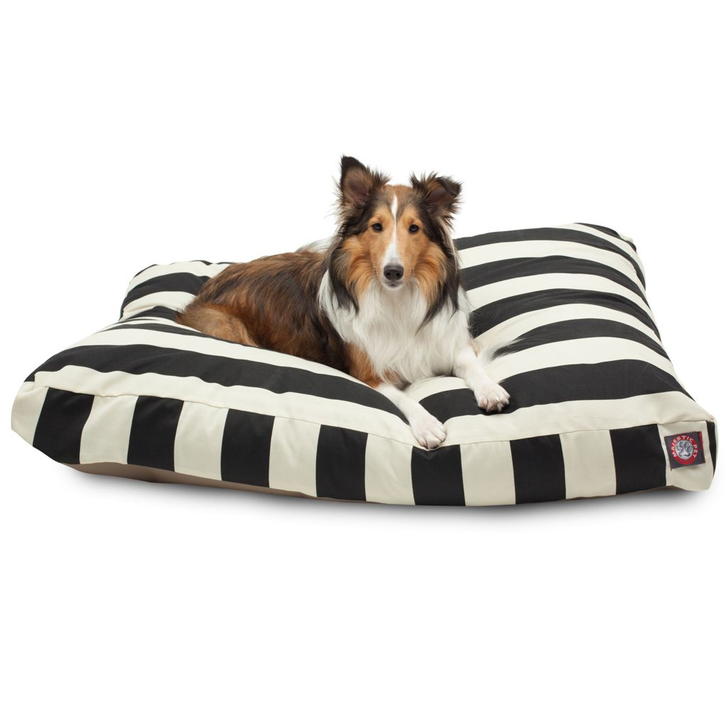443-345 - Majestic Pet Products Vertical Stripe Print Rectangle Pet Bed