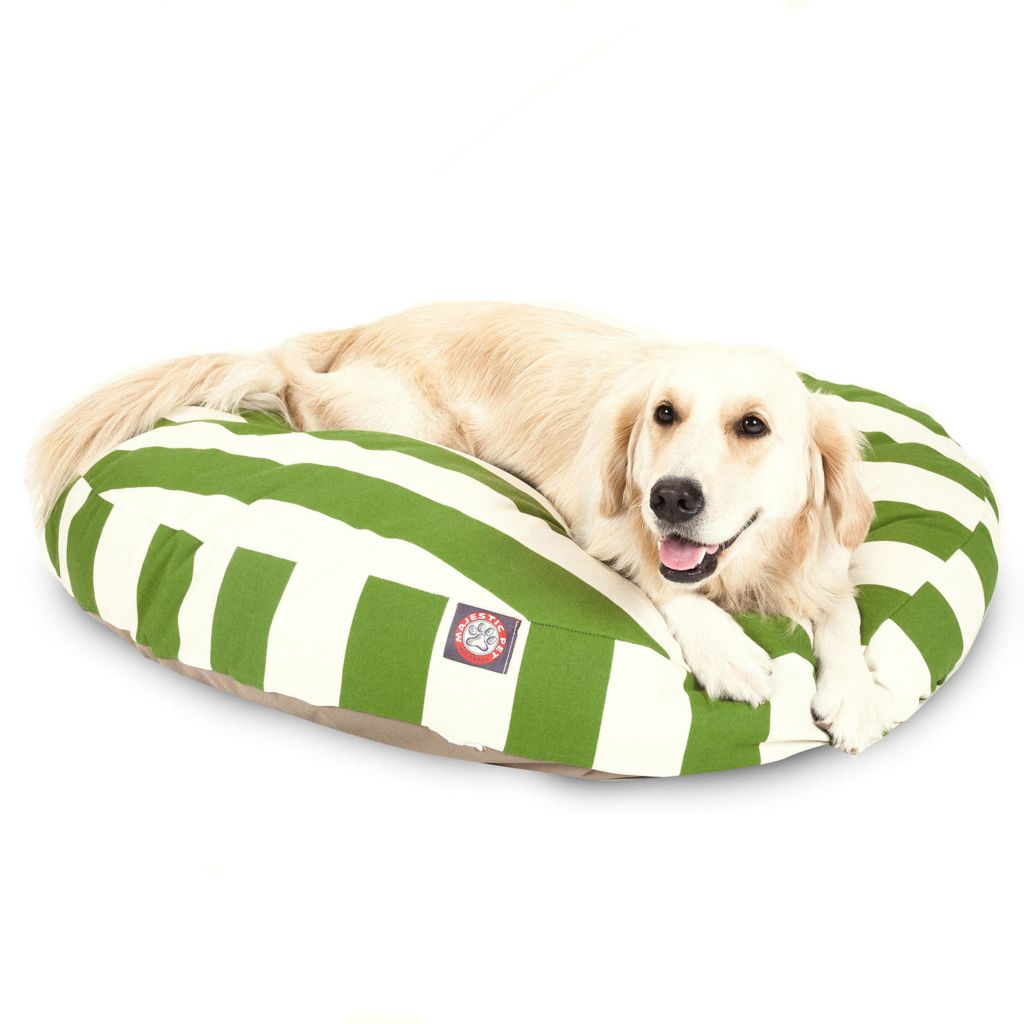 443-346 - Majestic Pet Products Vertical Stripe Print Round Pet Bed