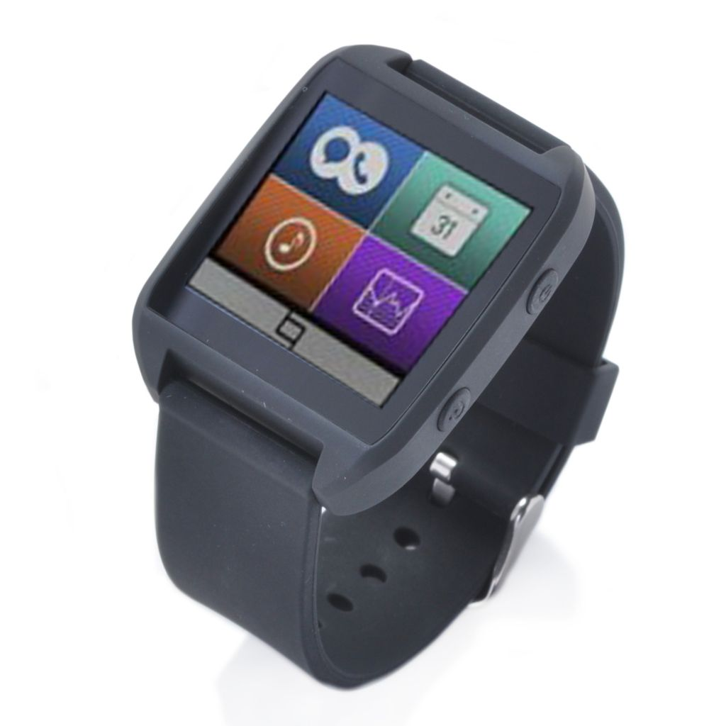 "443-371 - Ematic 1.5"" 4GB Touch Screen Smartwatch Compatible w/ Android Operating System"