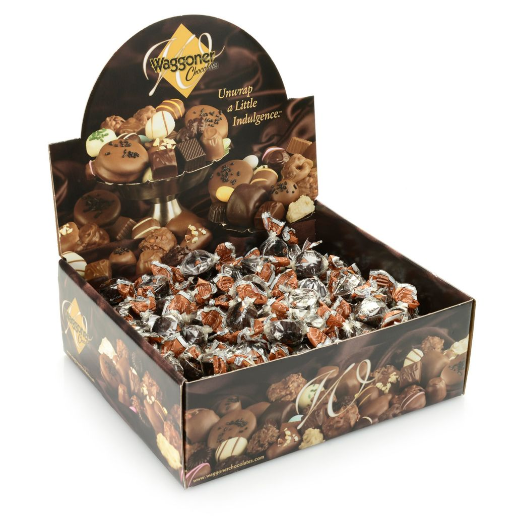443-443 -  Waggoner Chocolates 4 lb Individually Wrapped Liquid Caramel Chocolates
