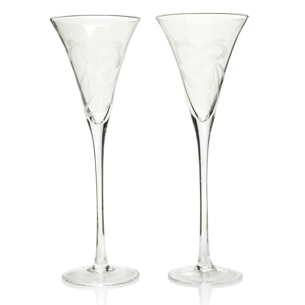443-448 - Marquis® by Waterford Yours Truly Set of Two 8 oz Glass Flutes