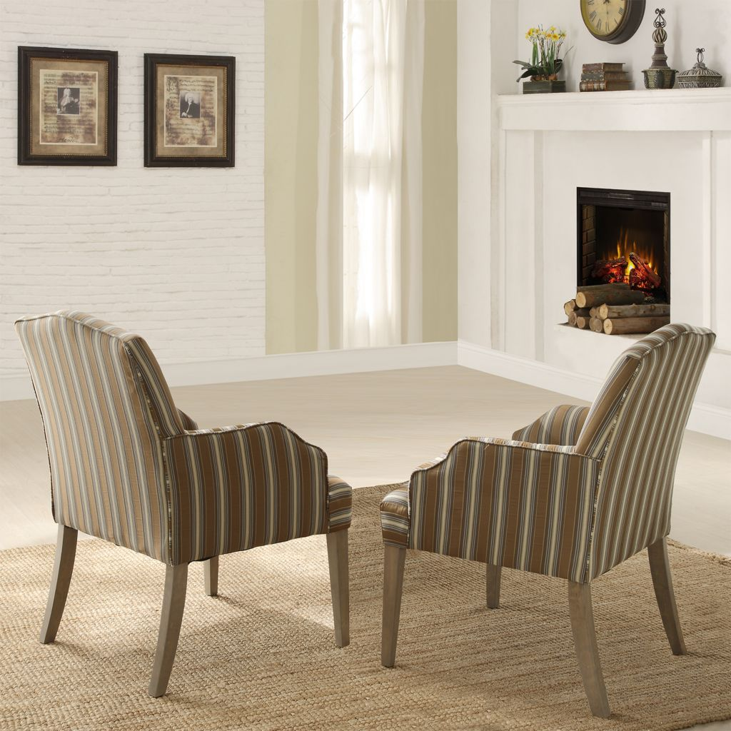 "443-458 - HomeBasica Set of Two 37.5"" Lorraine Chairs"