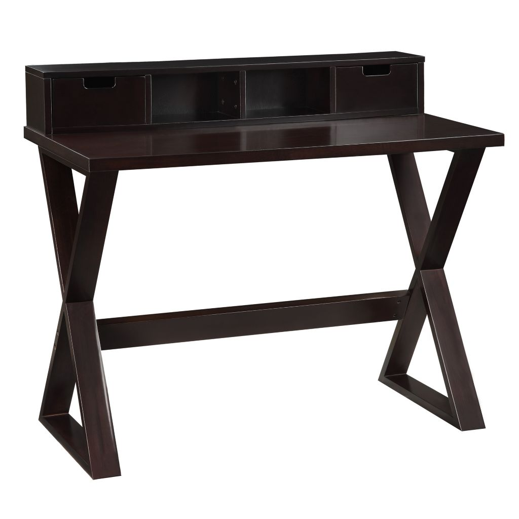 "443-464 - HomeBasica 42"" Winston Espresso Writing Desk"