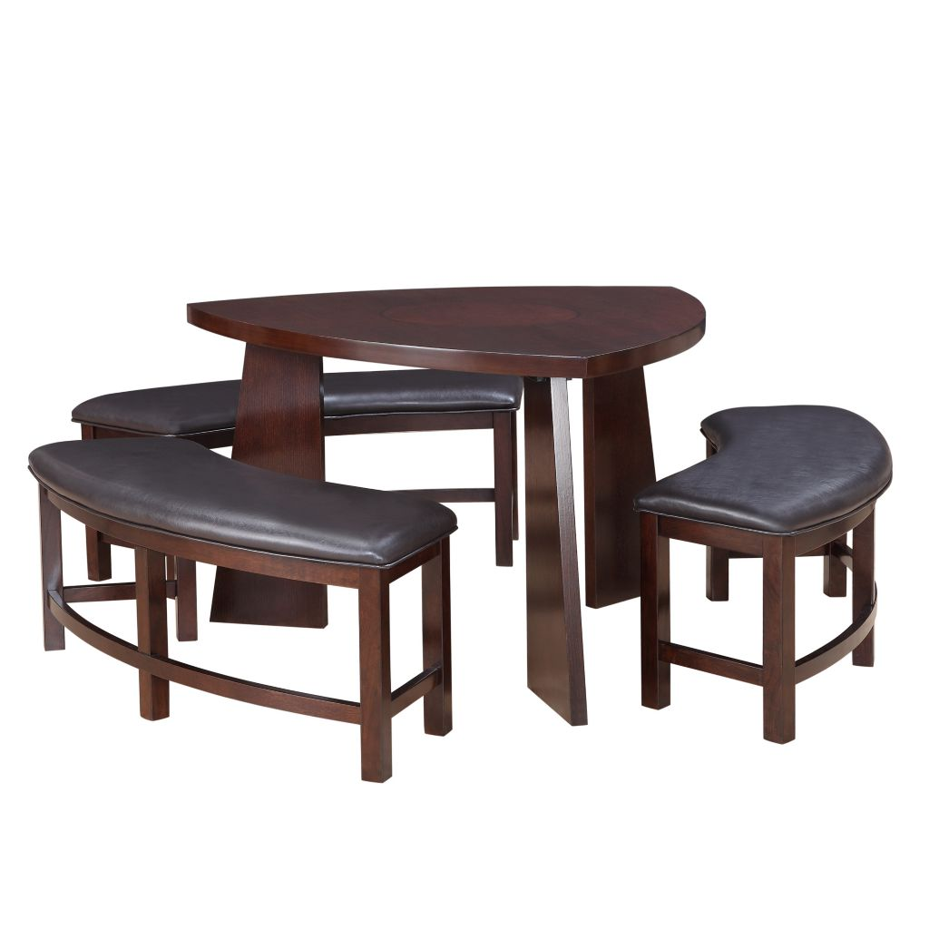 443-465 - HomeBasica Paradise Brown Four-Piece Dining Set
