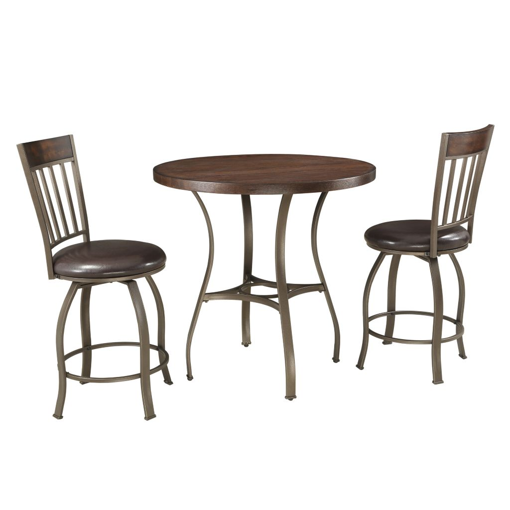 443-483 - HomeBasica Kedvale Three-Piece Counter Height Bistro Set