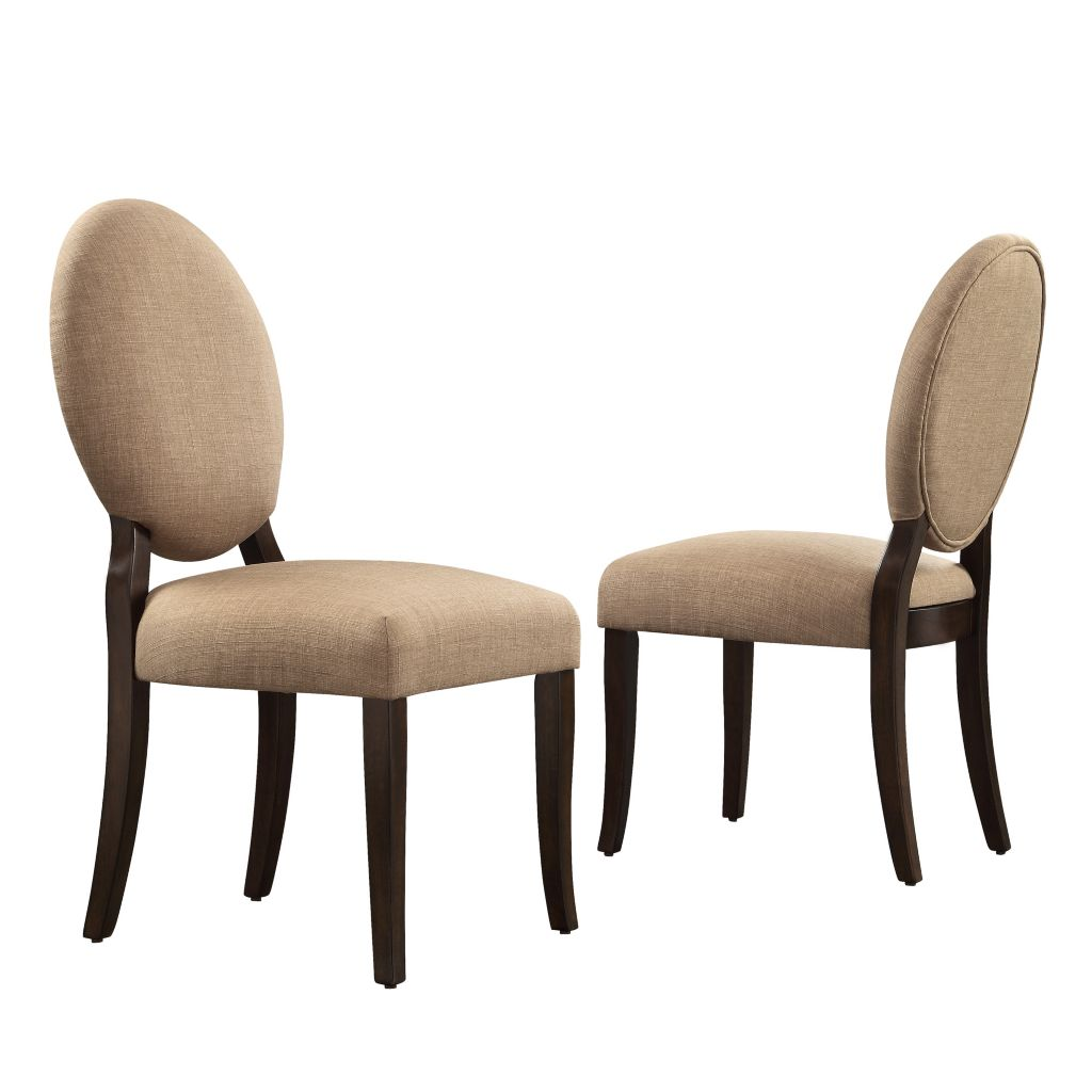 "443-494 - HomeBasica Set of Two 39"" Oneida Round Back Dining Chairs"