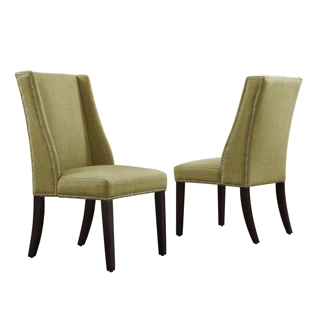 "443-495 - HomeBasica Set of Two 41"" Wolcott Wingback Hostess Chairs"
