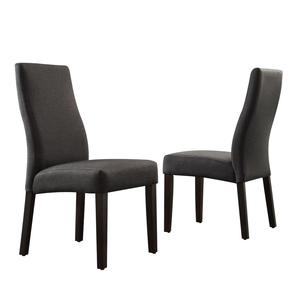 "443-496 - HomeBasica Set of Two 39"" Ridgeway Wave Back Dining Chairs"