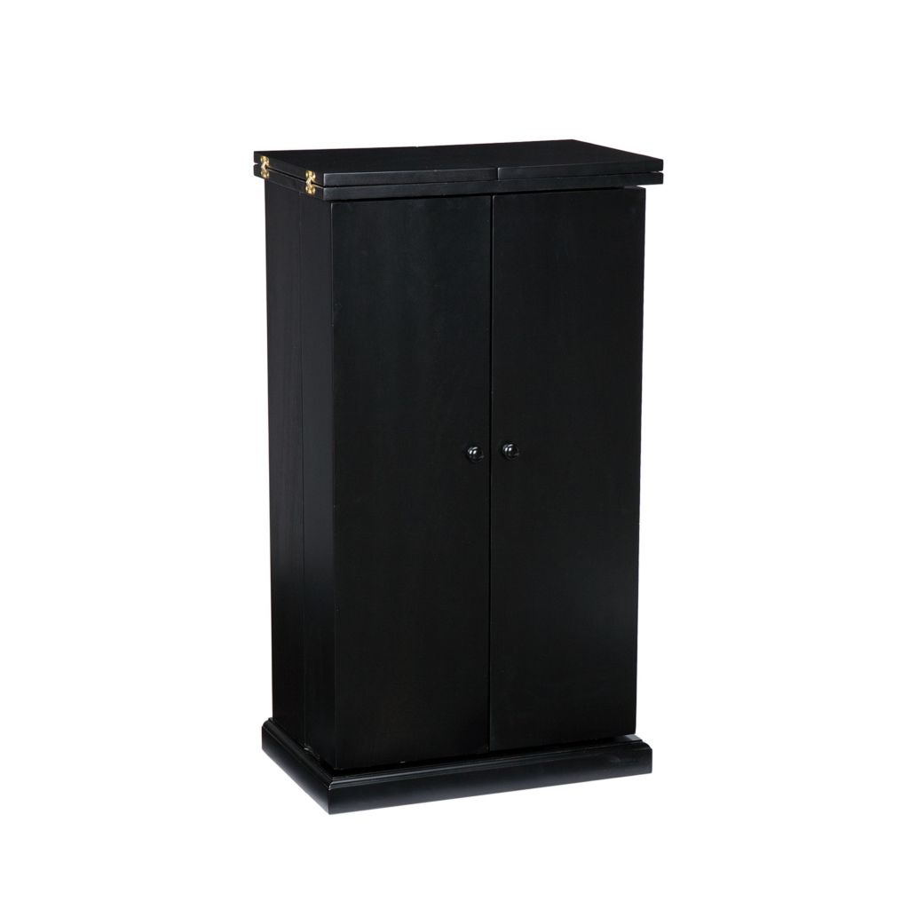 443-506 - Black Finish Fold-Away Bar Cabinet