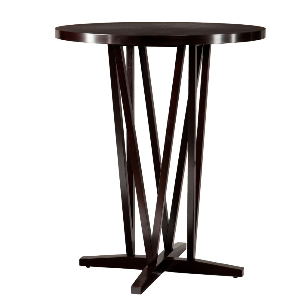 443-510 - Dark Espresso-Finish Rubberwood Pub Design Bar Table