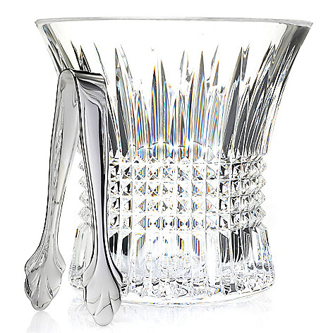 443-599 - Waterford® Crystal Lismore Diamond Two-Piece Flared Ice Bucket & Tongs Set