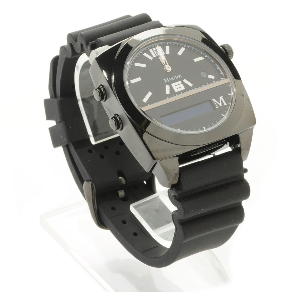 443-618 - Martian Victory Series Analog Quartz Voice Command Watch w/ Micro USB Port