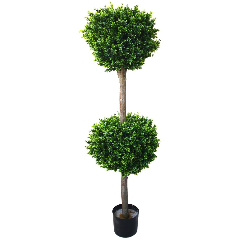 "443-624 - 56"" Artificial Romano Hedyotis Double Ball Topiary Tree"