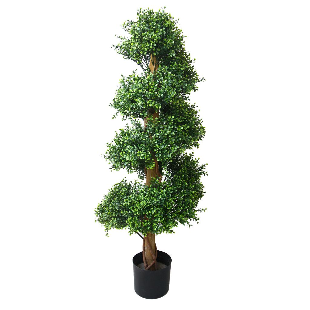 "443-628 - 48"" Artificial Romano Boxwood Spiral Tree"