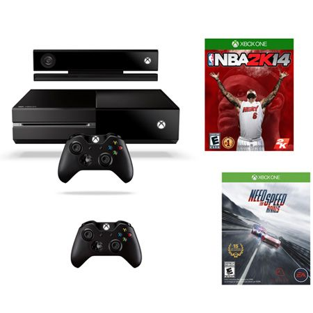 443-640 - Xbox One Gaming Console Bundle w/ Need for Speed: Rivals & NBA 2K14 Games