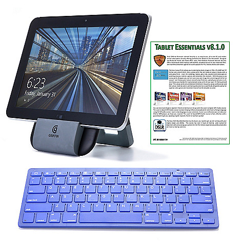 443-701 - HP 10.1'' 64GB 4G Windows Tablet w/ Office, Bluetooth® Keyboard & 2-Year T-Mobile Data Plan