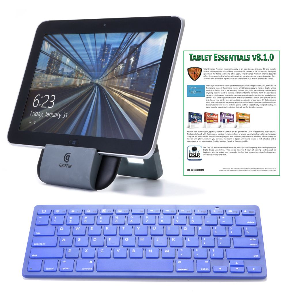"443-701 - HP 10.1"" 64GB 4G Windows Tablet w/ Office, Bluetooth® Keyboard & 2-Year T-Mobile Data Plan"