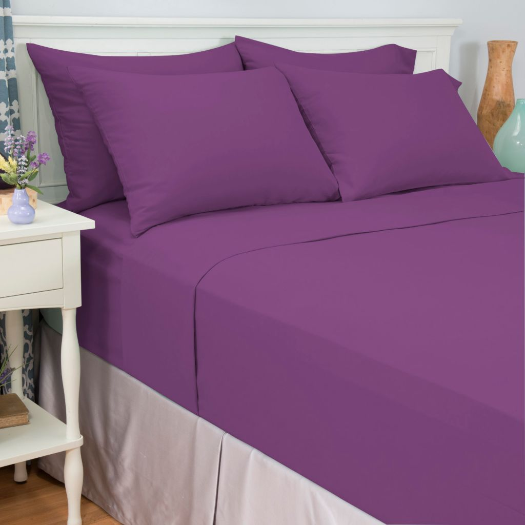 443-707 - Cozelle® Choice of Color Microfiber Six-Piece Sheet Set