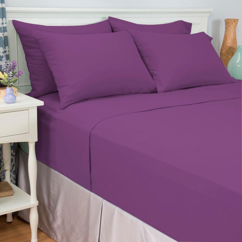 443-707 - Cozelle® Choice of Color Microfiber Six-Piece Sheet Set